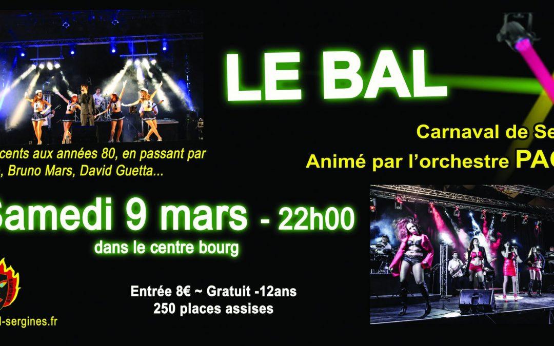 Edition 2019: LE BAL 9 mars 2019 à partir de 22h